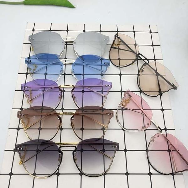 迪麗熱巴同款眼鏡墨鏡女2018新款圓臉顯瘦網紅個