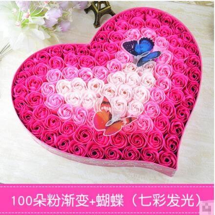 浪漫七夕情人節交換禮物送女友愛人女朋友   生日交換禮物創意香皂玫瑰花禮盒愛情