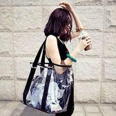 沙灘包 游泳包防水包透明包海邊沙灘包乾濕分離單肩女包度假款【韓國時尚週】