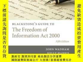 二手書博民逛書店Blackstone s罕見Guide To The Freed