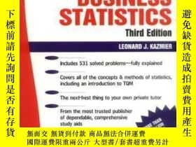 二手書博民逛書店Schaum s罕見Outline Of Business StatisticsY307751 Leonard