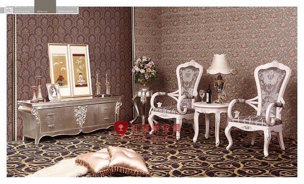[紅蘋果傢俱] HT-802 新古典系列 實木雕花 歐式 法式 奢華 電視櫃 TV櫃 工廠直營