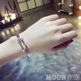 手鐲冷淡風歐美網紅韓版水晶簡約個性飾品首飾學生手鍊女  MOON衣櫥