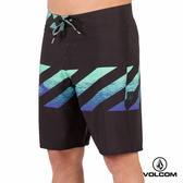 VOLCOM MOD-TECH 條紋衝浪褲-黑x海藍