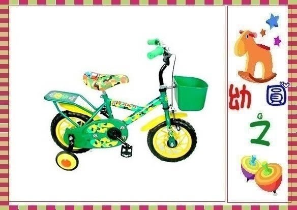 *幼之圓*厚軟座墊 12吋 迷彩兒童腳踏車~台灣製