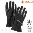 荒野WILDLAND 中性防風保暖翻指手套 黑色 W2011 保暖手套 刷毛手套 防風手套 OUTDOOR NICE