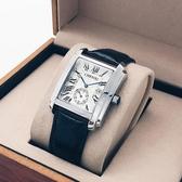 晨曦新款方形手錶男皮帶時尚潮流防水非機械錶男學生復古商務男錶