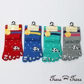 【Tiara Tiara】懶懶熊貓五指襪(藍/綠/灰/紅)
