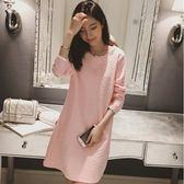 *漂亮小媽咪*韓系 麻花 花紋 蕾絲 長袖 哺乳洋裝 加厚 保暖 孕婦裝 哺乳衣 B1020