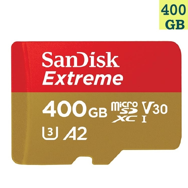 SanDisk 400GB 400G microSDXC【Extreme 160MB/s】microSD micro SD SDXC UHS 4K U3 V30 A2 SDSQXA1-400G 手機 記憶卡