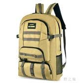 大容量旅游雙肩包男士背包旅行行李包學生書包戶外迷彩登山包女 qz3953【野之旅】