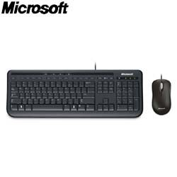 Microsoft 微軟 600 標準鍵盤滑鼠組 黑(APB-00017) 中文