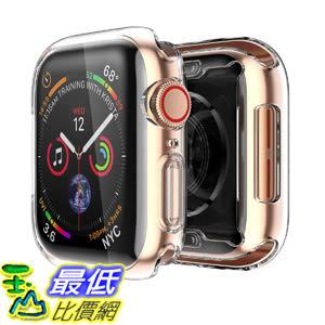 [8美國直購] 保護套 Smiling Clear Case for Apple Watch Series 4 & Series5 44mm with Buit in TPU Screen Protector B07JYV9WB4