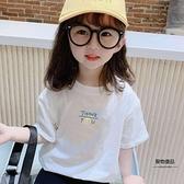 短袖T恤純棉夏季女小童衣服童裝寶寶半袖上衣兒童夏裝女童【聚物優品】