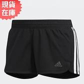 【現貨】ADIDAS PACER 3-STRIPES KNIT 女裝 短褲 真理褲 熱褲 慢跑 黑【運動世界】DU3502