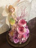 永生花製作成品,彩衣花仙子,尺寸15*25,附高級天地蓋禮盒與小卡