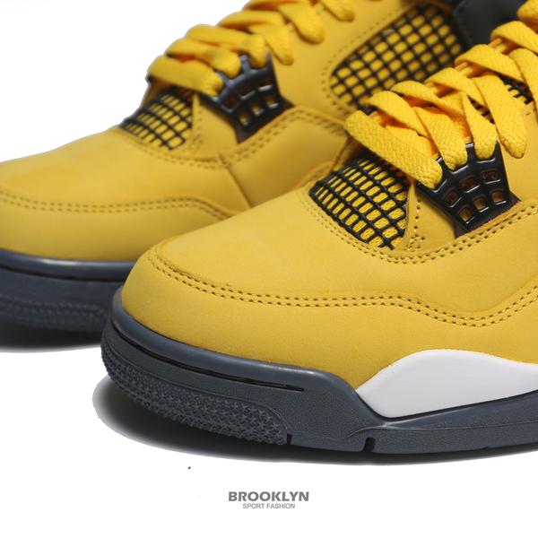 NIKE 籃球鞋 AIR JORDAN 4 AJ4 四代 LIGHTING 2021 閃電黃 男(布魯克林) CT8527-700