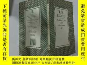 二手書博民逛書店T.S.Eliot罕見The Waste Land and other poems:T.S. 艾略特《荒原》和其他