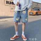 夏季新款港風牛仔短褲韓版寬鬆百搭五分褲ins潮牌帥氣男生中褲【快速出貨】