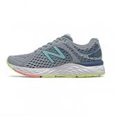 New Balance 女款灰藍寬楦慢跑鞋-NO.W680CP6