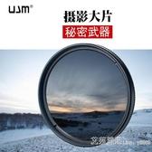 相機濾鏡 UJM中灰漸變鏡套裝67/77mm中灰鏡GND相機58漸變單反尼康佳能濾鏡  艾莎嚴選