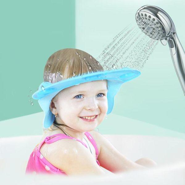 嬰兒洗頭神器  寶寶洗頭帽防水護耳浴帽兒童洗發帽嬰兒洗頭神器洗澡帽可調節  米娜小鋪