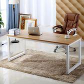 簡易電腦桌鋼木書桌簡約現代雙人經濟型辦公桌子台式桌家用寫字台igo 韓風物語