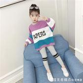 女童秋裝2018新款套裝女孩時髦3兩件套4兒童5運動6時尚7洋氣8歲潮 漾美眉韓衣
