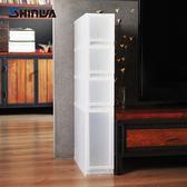 【nicegoods】日本製 Shinwa伸和 滑輪抽屜隙縫櫃(3低1高抽)-17CM寬