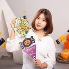 【BlueCat】兒童手工DIY萬聖節蜘蛛網狀掛飾材料包 裝飾 擺飾