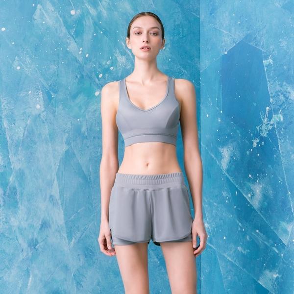 LeRêveParis |Aero 法式美型雙層運動短褲|-灰色