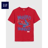 Gap男童 Marvel復仇者聯盟系列 圖案短袖T恤 487296-深紅色