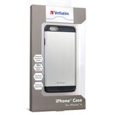 【免運費】Verbatim 威寶 iPhone 6 4.7吋 鋁合金手機保護殼(附贈9H鋼化玻璃螢幕保護貼)-銀色x1