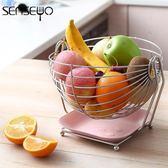 創意304不銹鋼水果籃 客廳水果盤家用收納籃瀝水籃果盆歐式糖果盤  居家物語