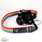 《T-STUDIO拉拉購物網》PAR.T彩虹商品-六彩卡哇伊相機背帶