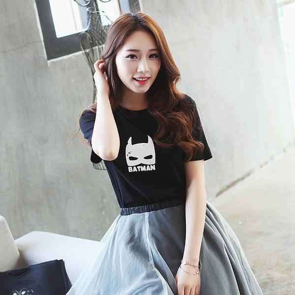 [現貨] 蝙蝠俠剪影黑色棉T