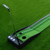 高爾夫球道 高爾夫球道無軌道3米練習器+推桿 室內訓練韓國迷妳用品igo  coco衣巷