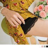 《BA3102》素色質感彈性蕾絲花邊短褲/安全褲 OrangeBear