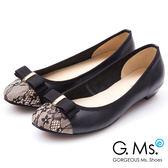 G.Ms. MIT系列-蕾絲織帶蝴蝶結娃娃鞋*黑色