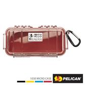 美國 PELICAN 派力肯 塘鵝 1030 Micro Case 微型防水氣密箱 透明 紅色 公司貨