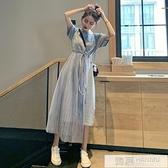 法國小眾很仙的洋裝2020新款仙女裙子超仙甜美收腰顯瘦氣質長裙  母親節特惠