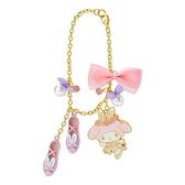 小禮堂 美樂蒂 造型金屬鑰匙圈 珍珠吊飾 鐵鑰匙圈 包包吊飾  (粉 芭蕾劇場) 4550337-33633