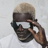 2019新款一體式無框太陽鏡男女款個性大框墨鏡歐美潮流眼鏡