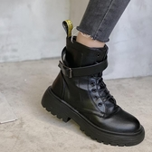 韓國厚底增高馬丁靴女ins潮2020秋季小個子短靴顯瘦網紅百搭機車短靴【居享優品】
