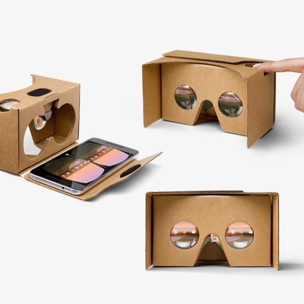 VR眼鏡 vr眼睛手機專用google谷歌眼鏡智慧cardboard紙盒2代4代5代3d盒子 免運 交換禮物