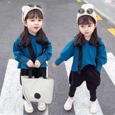 新款女童裝時髦套裝0春秋2女寶寶1秋季3歲洋氣兒童韓版潮衣服 依夏嚴選