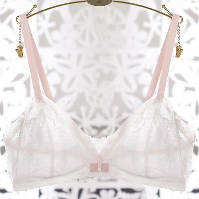超薄杯透视刺绣性感女隐形胸罩-1236005