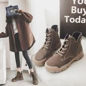 馬丁靴女新款冬季短靴女英倫風百搭韓版短筒裸靴子 歐亞時尚