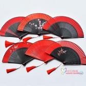 扇子 中國風古典女式隨身折扇蹦迪酒吧舞蹈扇子漢服日式開合順滑手感好 9色