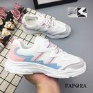 休閒鞋.拼布厚底老爹休閒鞋【K99-20】黑/灰/粉(偏小)